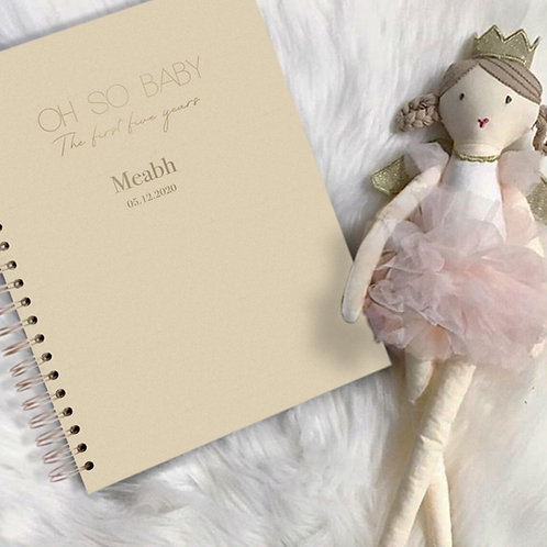 Oh So Baby - The first five years journal - Yellow and gold foil
