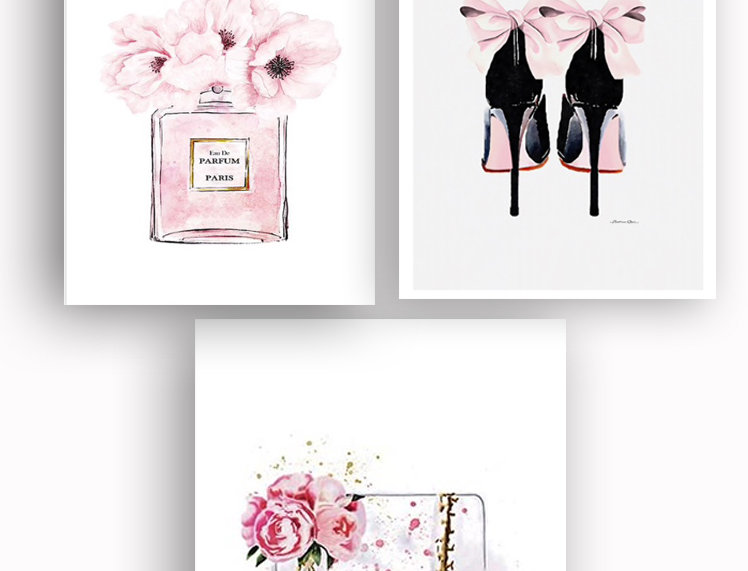 Set of 4 canvas posters