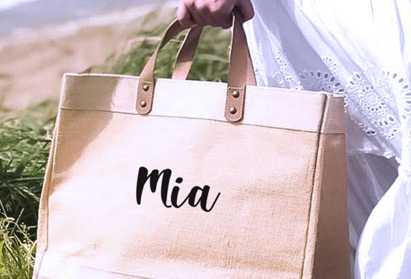 Jute Bag Natural - Personalised Name