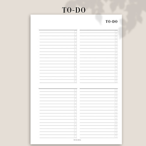 To-Do Planner Inserts Refills