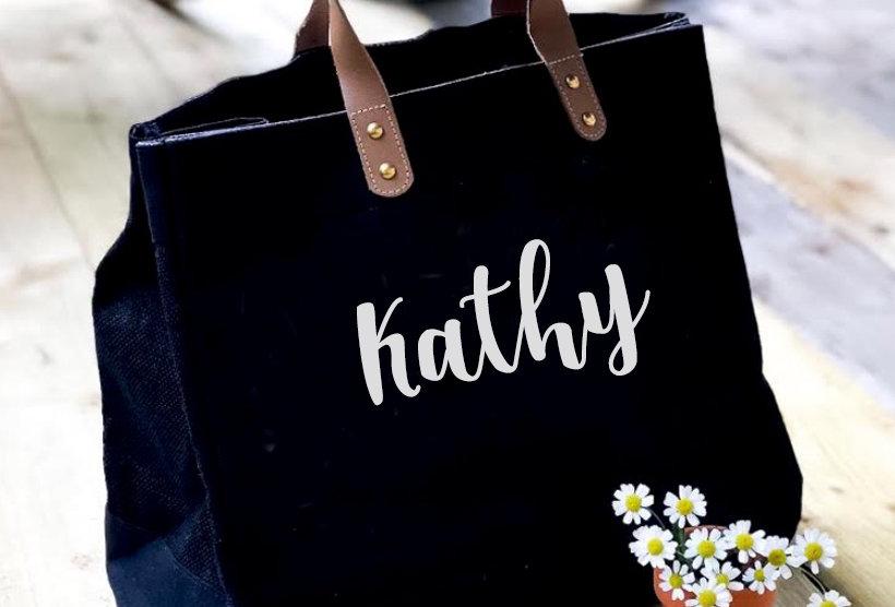 Jute Bag - Personalised Name