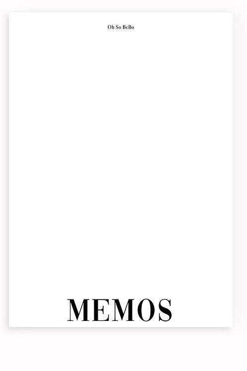 Notepads - Memos