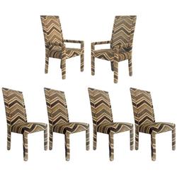 1970s Missoni Style Velvet Upholstered D