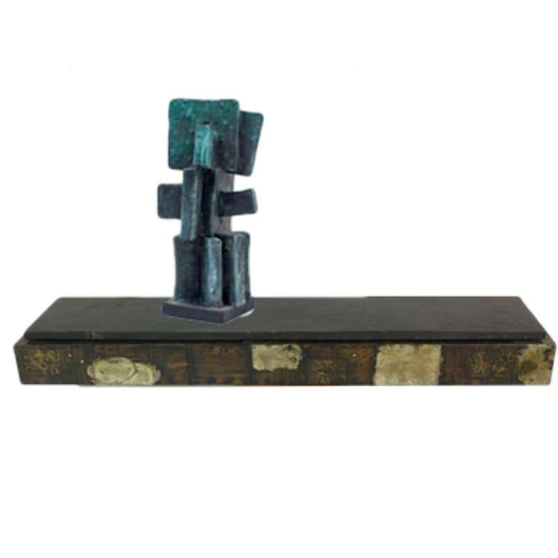 Paul Evans Shelf , Judy Engel sculpture