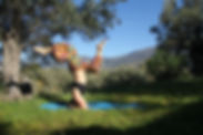 Sage Castellano Viola. Yoga pose. Yoga handstand. Yoga therapy