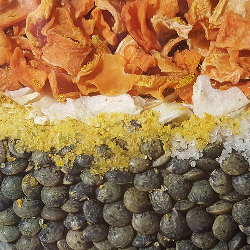 Lentilles vertes au curry 4 parts BIO