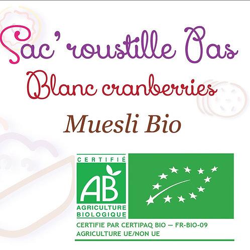 Muesli blanc cranberry 600gr BIO