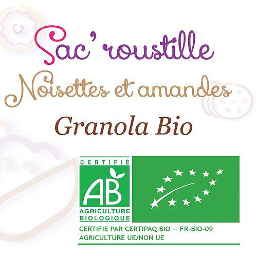 Granola noisettes amandes 600gr BIO