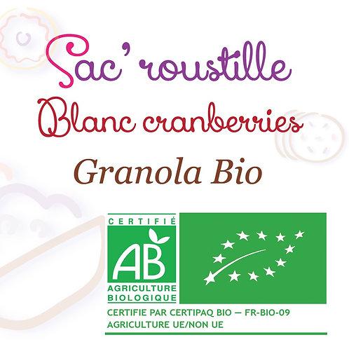 Granola blanc cranberry 600gr  BIO