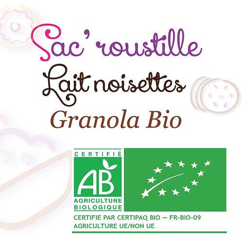 Granola lait noisettes 600gr BIO