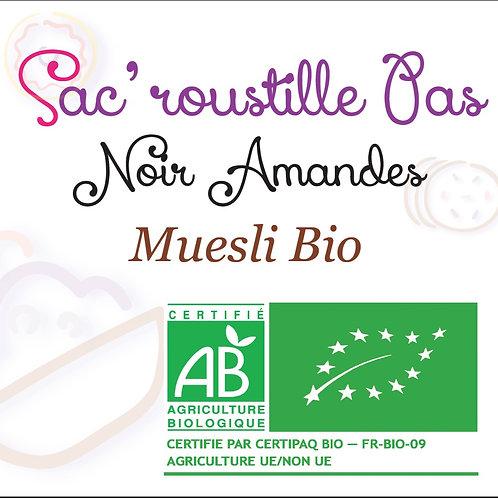 Muesli Sac'roustille Pas noir amandes BIO 600 gr