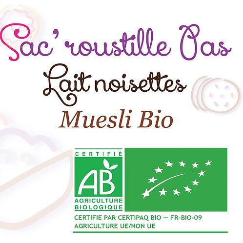 Muesli lait noisettes 200gr BIO