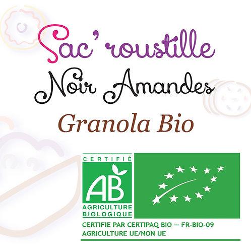 Granola Sac'roustille noir amandes BIO 200 gr