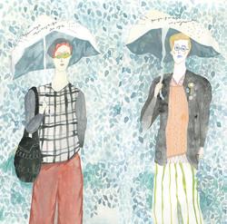 いつもだいたい雨な2人