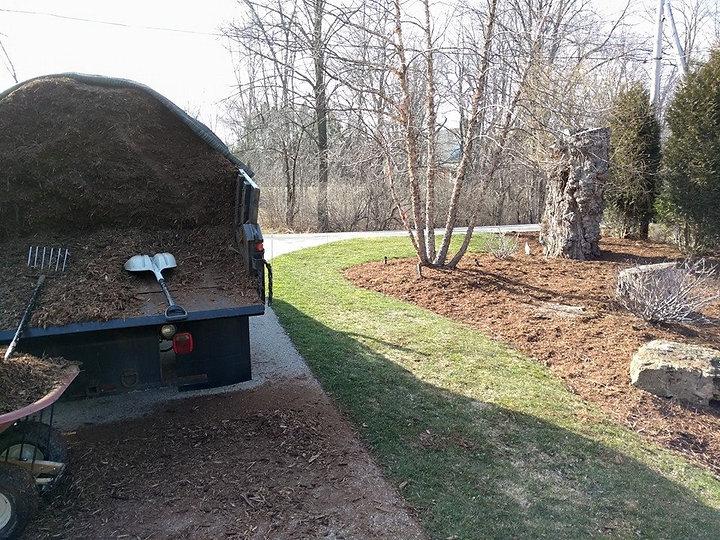 Landscape Maintenance Mulch Install