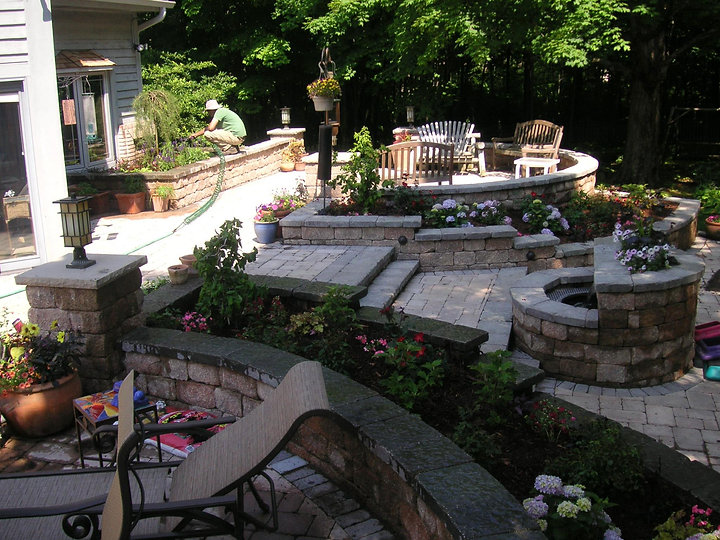 Paver Brick Patio Landscape Plants