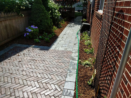Brick Patio Sidewalk Install Planting Inst