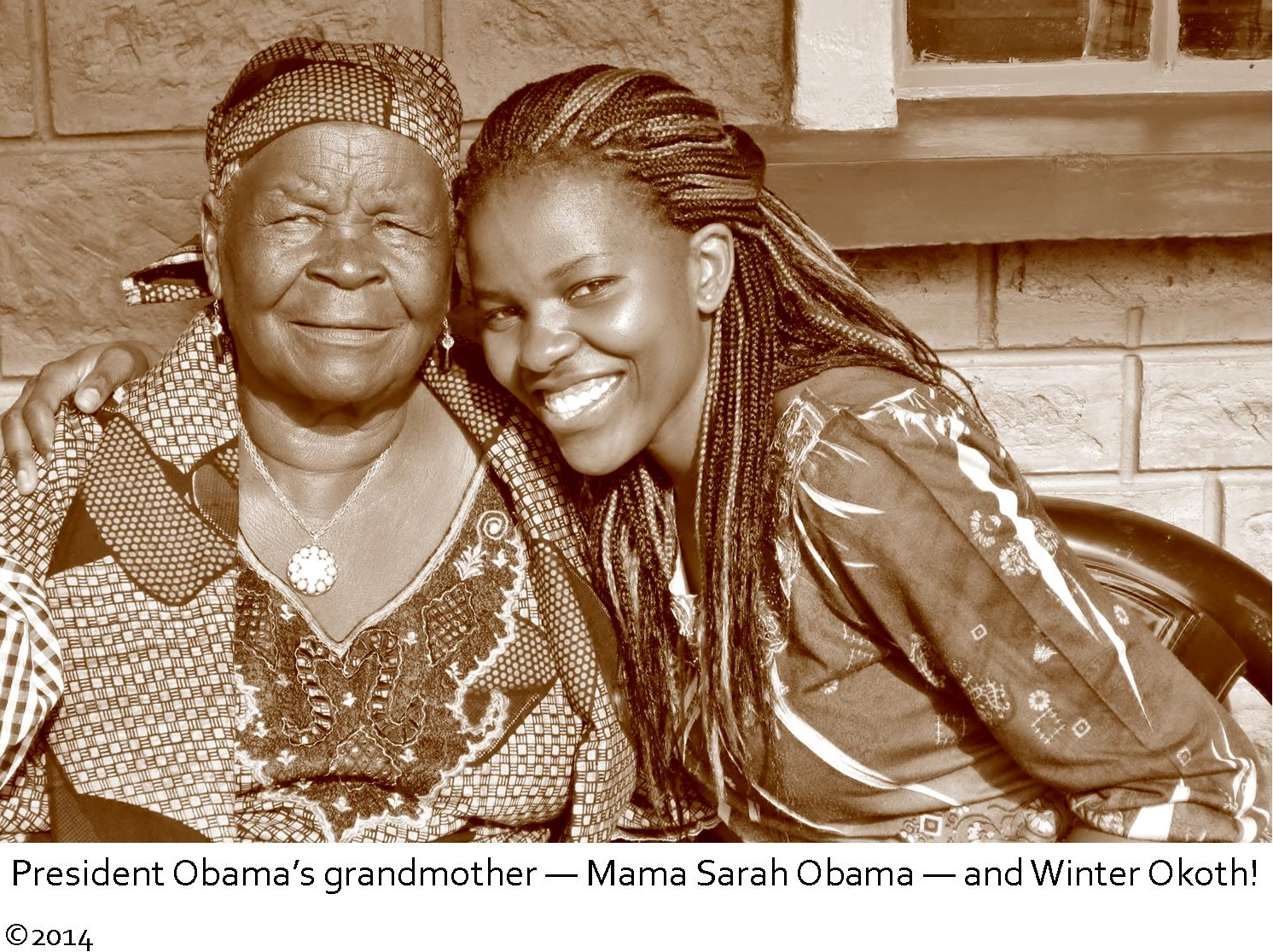 Our Founder with Mama Sarah Obama