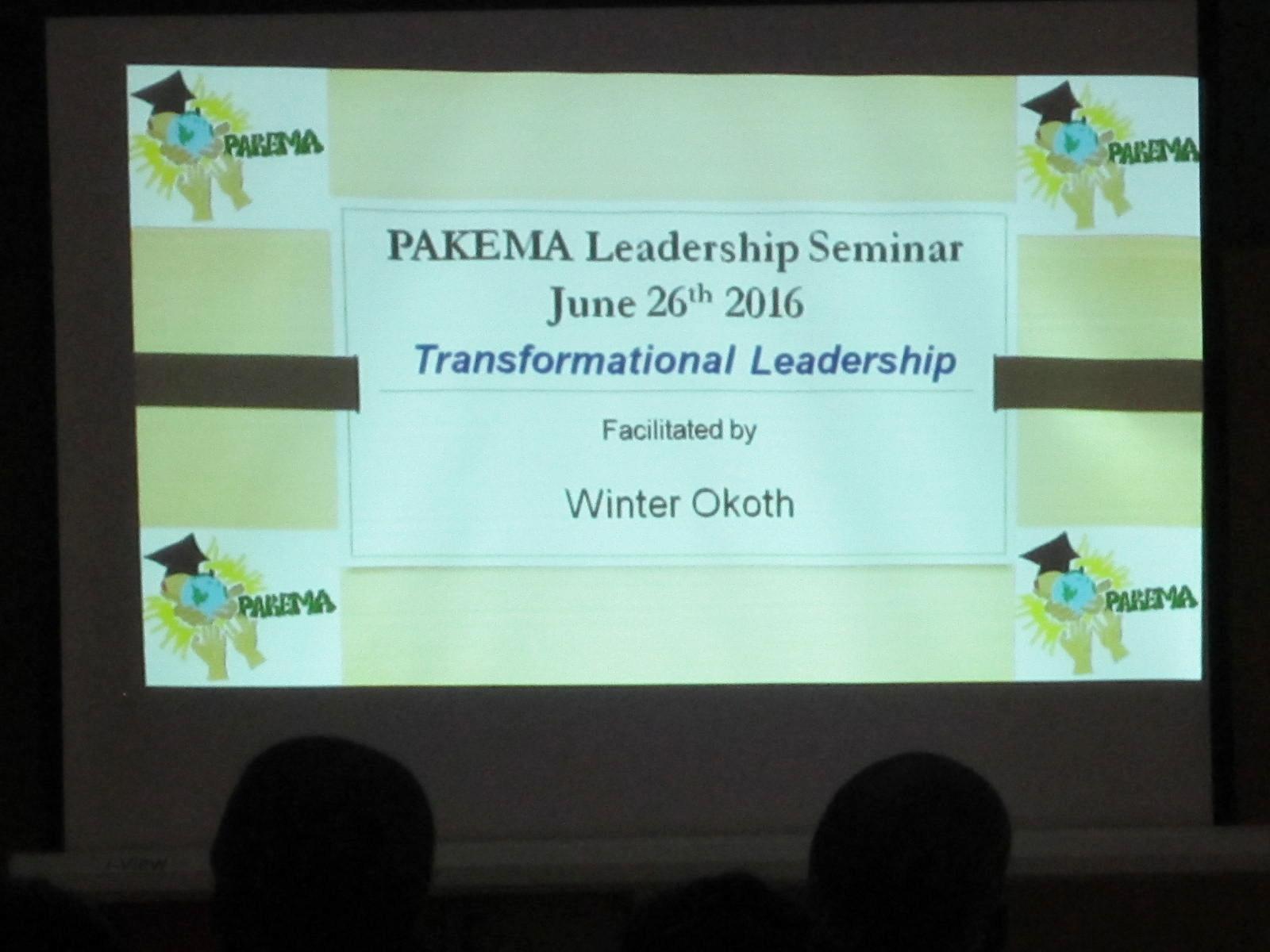PAKEMA Leadership Seminar 2016