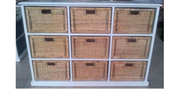 Rattan Peel Storage 9 Baskets