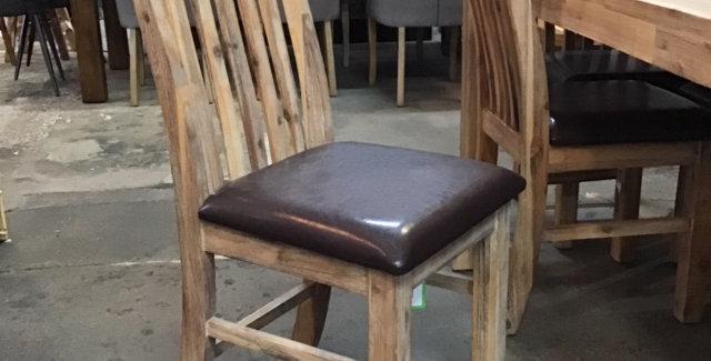 Safari Dining Chair Smoke/Brown PU