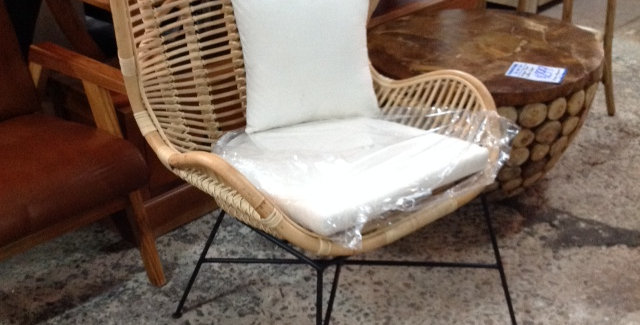 Rattan Chair Iron Leg
