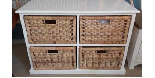 Rattan Peel Storage 4 Baskets