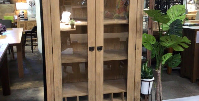 Potters Barn Display Cabinet