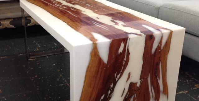 Java Hardwood Epoxy Resin Coffee Table