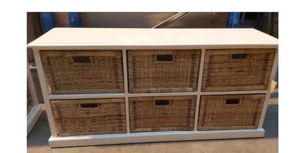 Rattan Peel Storage 6 Baskets