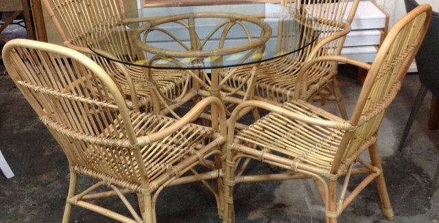 Rattan Dining Setting 5 Pc