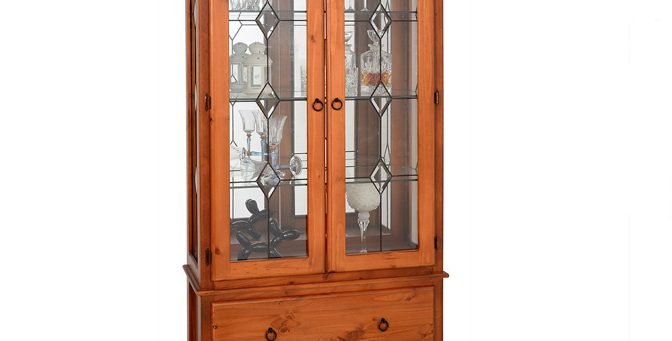 Parlour Large 2Drw Display Cabinet A/Oak