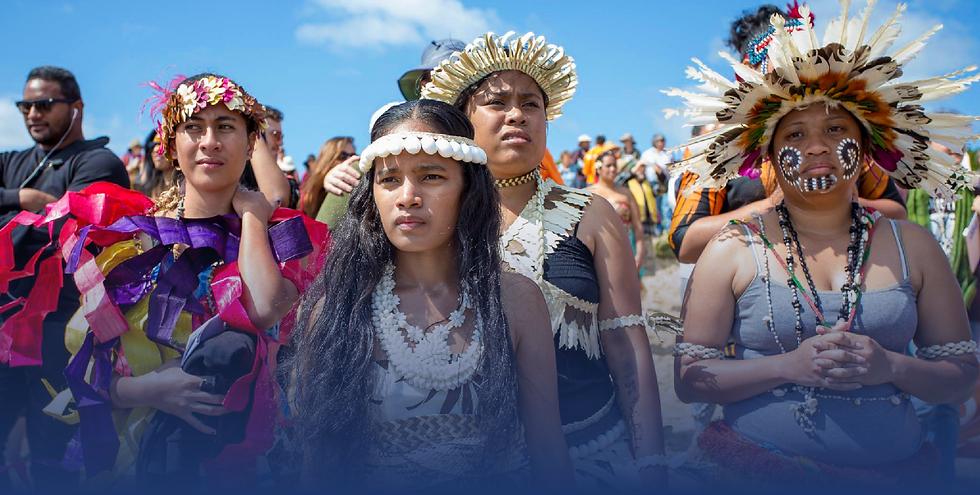Pasifika Women in traditional attire