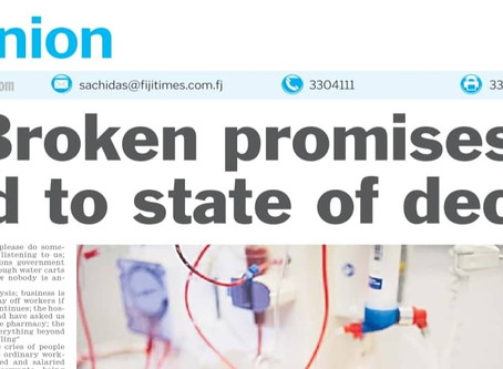 Broken promises lead to state of decay