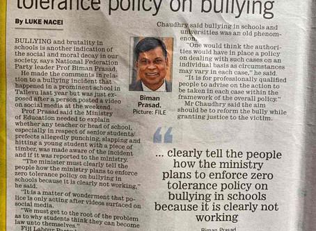 Bullying in Fiji Schools