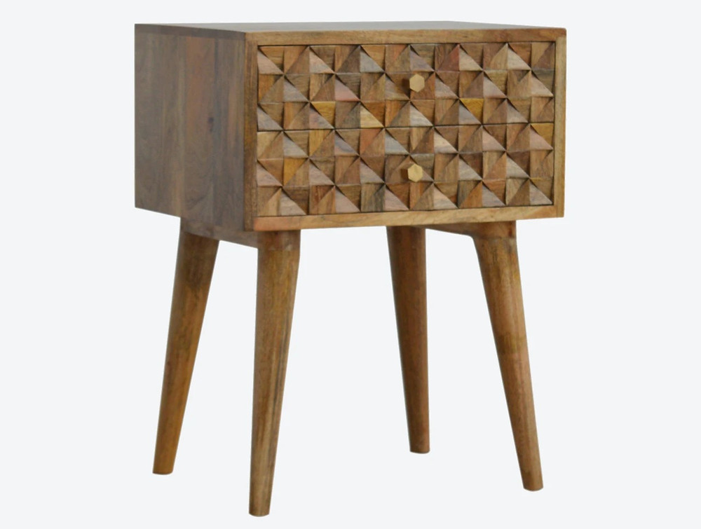 Diamon carved bedside table