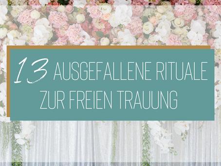 13 ausgefallene Rituale für eure freie Trauung