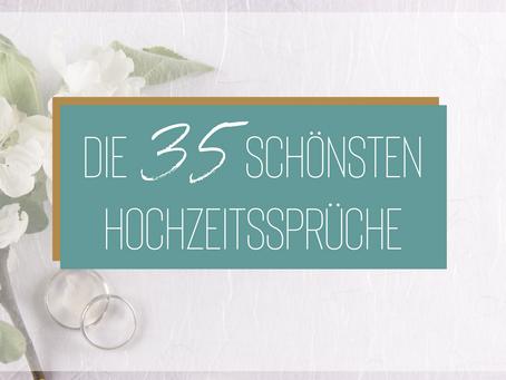 Die 35 schönsten Hochzeitssprüche