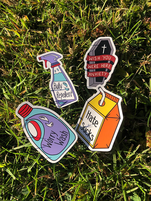 Pack of 4 Stickers