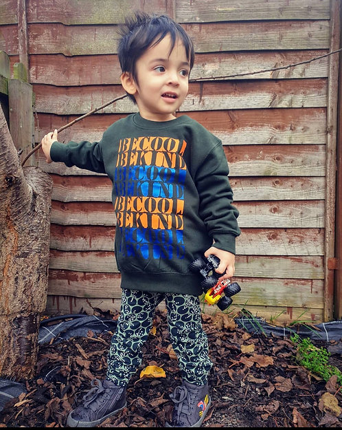 Kids Forest Green Sweater