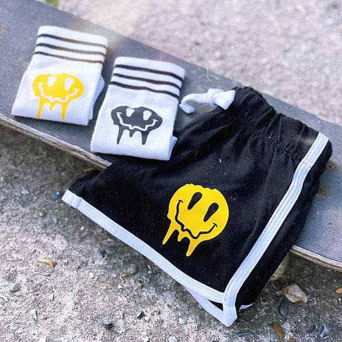 Sk8rs Gonna Sk8 Smiley Retro Shorts