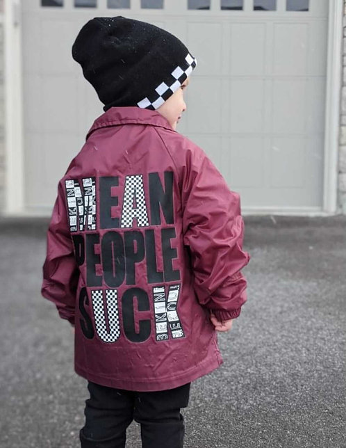 Mean People Suck Kids Windbreaker Jacket