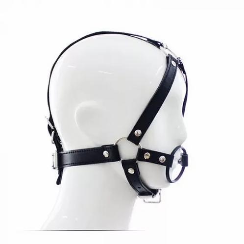 Harness Κεφαλής με Cock Ring - Μαύρο