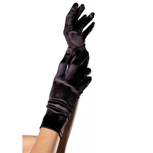 Γάντια σατέν-μαύρο-One SIZE
