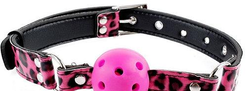 Λεοπάρ ροζ φίμωτρο - Breathable Ball Gag