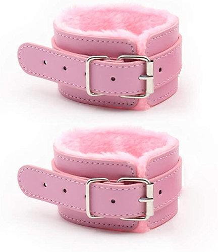 Ροζ Ποδοπέδες με Γούνα