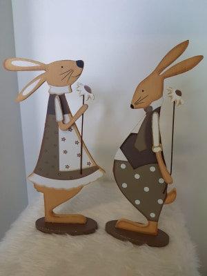 Hasenpaar aus Holz