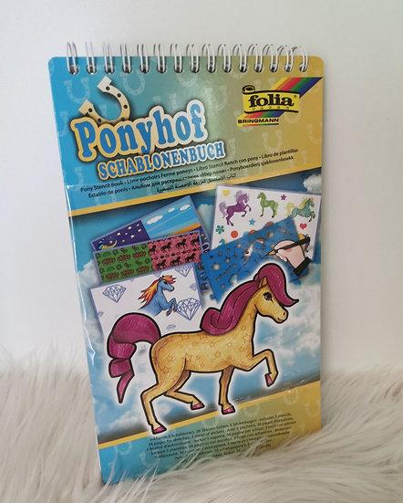 Ponyhof Schablonenbuch und Sticker