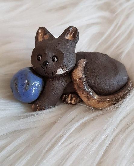 Katze Wollknäuel