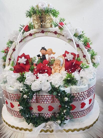 Hochzeitsgeschenk aus Windeln - Unikat